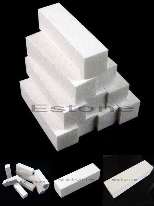 [Visit to Buy] 5Pcs Nail Art Buffer File Block Pedicure Manicure Buffing Sanding Polish White #Y207E# Best Sale #Advertisement