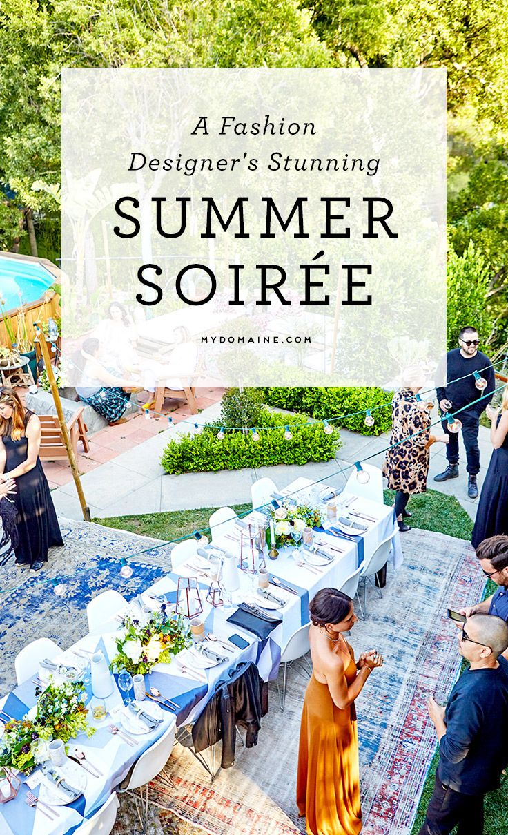 Rachel Pally hosts an epic outdoor dinner party