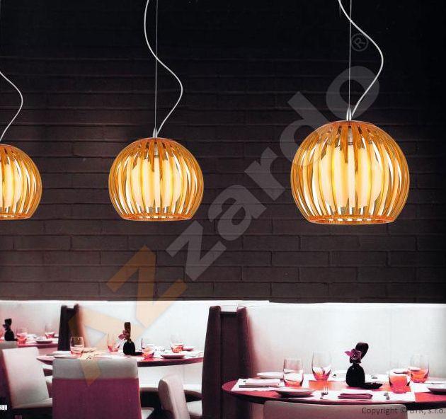 Dekoracyjna LAMPA wisząca ARCADA M MD2106-1 BK Azzardo szklana OPRAWA zwis kopuła kula plisowana czarna