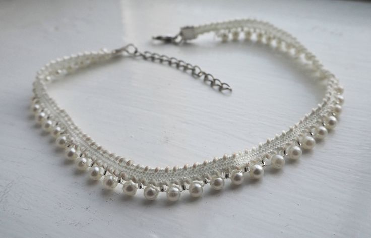 Excited to share the latest addition to my #etsy shop: All-Round Pearl Choker http://etsy.me/2AFvdDc #jewellery #necklace #beige #silver #women #style #pearls #pearl