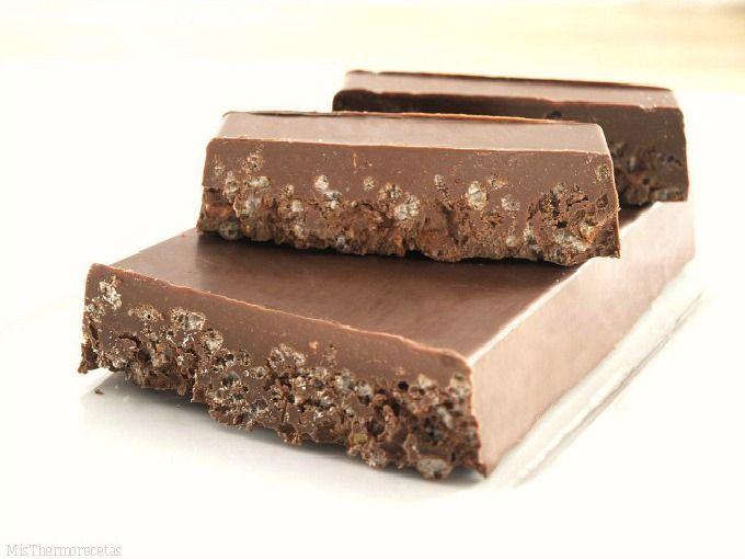 Turrón de chocolate crujiente - MisThermorecetas