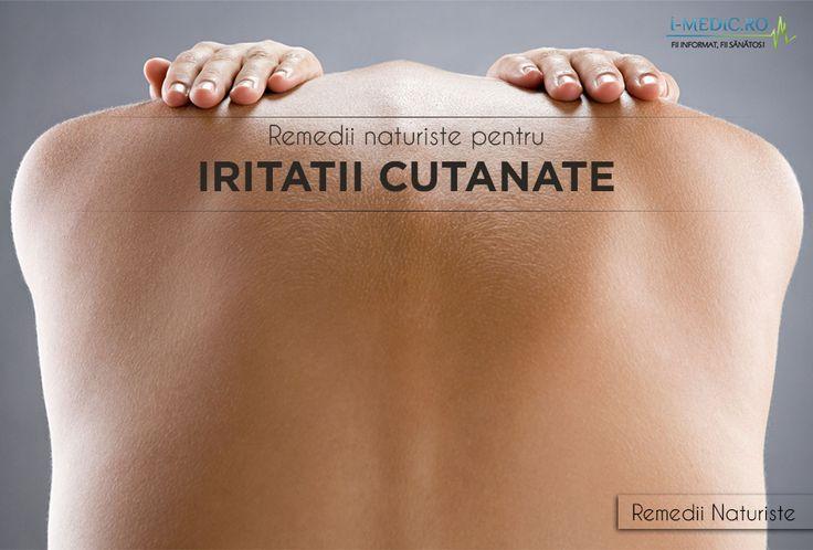 Iritatiile cutanate se manifesta prin aparitia unei inflamatii, insotite de senzatie dureroasa ca urmare a frictiunii pielii de un obiect sau o piesa vestimentara - http://www.i-medic.ro/remedii/remedii-naturiste-pentru-iritatii-cutanate