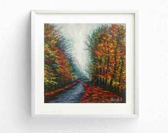 Free shipping Autumn landscape painting