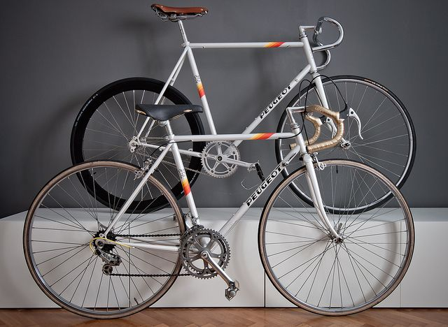 Peugeots vintage road bike and fixie