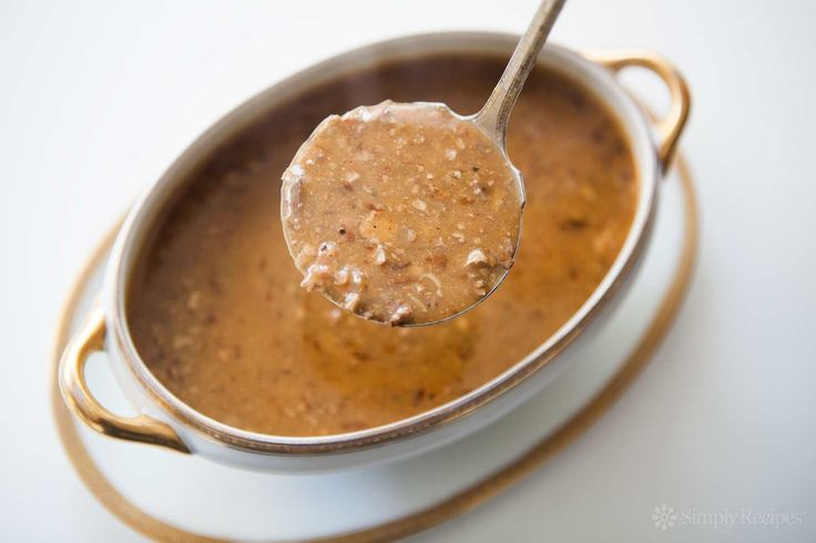 Giblet Gravy ~ Classic gravy made with the giblets (neck, liver, heart, gizzard) from a turkey or chicken. ~ SimplyRecipes.com