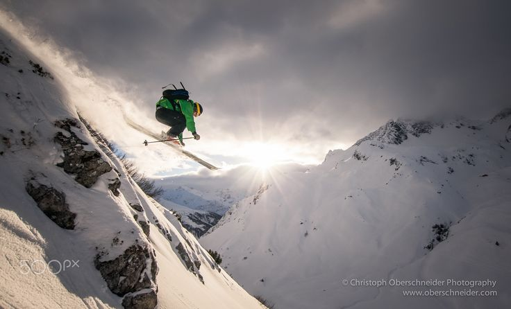 """Arlberg Powder Skiing Jump - Image available for licensing.  Order prints of my images online, shipping worldwide via  <a href=""""http://www.pixopolitan.net/photographers/oberschneider-christoph-a6030.html"""">Pixopolitan</a> See more of my work here:  <a href=""""http://www.oberschneider.com"""">www.oberschneider.com</a>  Facebook: <a href=""""http://www.facebook.com/Christoph.Oberschneider.Photography"""">Christoph Oberschneider Photography</a> follow me on <a…"""
