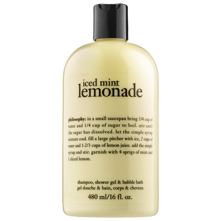 What it is:An iced mint tea shampoo, shower gel, and bubble bath formula that gently conditions as it cleanses, leaving the skin soft, silky, and lightly scented. What it is formulated to do:This all-in-one Iced Mint Lemonade Shampoo, Shower Gel & B