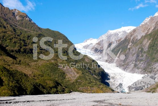 Franz Joseph Glacier, Tai Poutini National Park, West Coast, NZ royalty-free stock photo