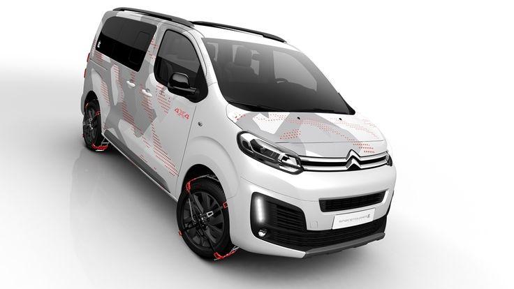 Citroën, 4 çeker binek van konsepti SpaceTourer 4x4 Ë Concept'i 7 Mart'ta kapılarını açacak olan Cenevre Otomobil Fuarı'nda tanıtacak.