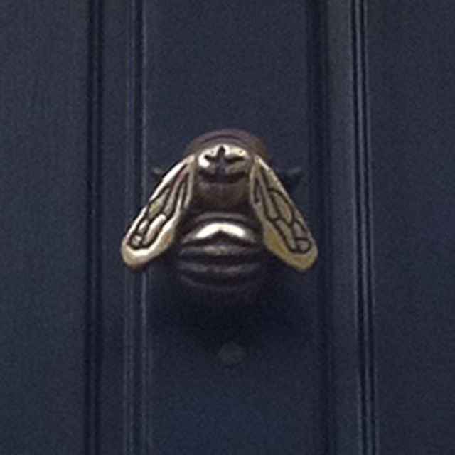 "Bee door knocker ""After a while, you learn to ignore the names people call you…"