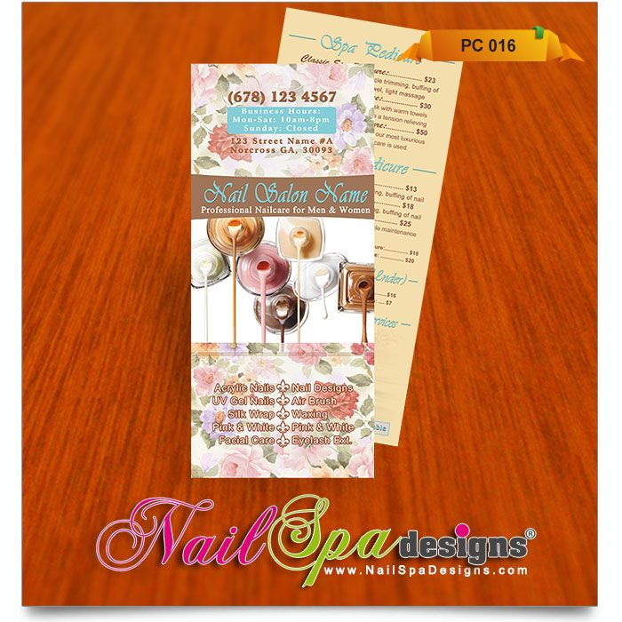 Best Advertising Images On   Nail Salons Price List