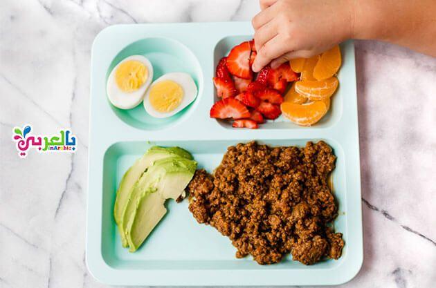 افضل 10 وجبات فطور صحي للاطفال للمدرسه افكار لعمل فطور صحي للاطفال بالعربي نتعلم Peach Healthy Kids Plates Healthy Kids