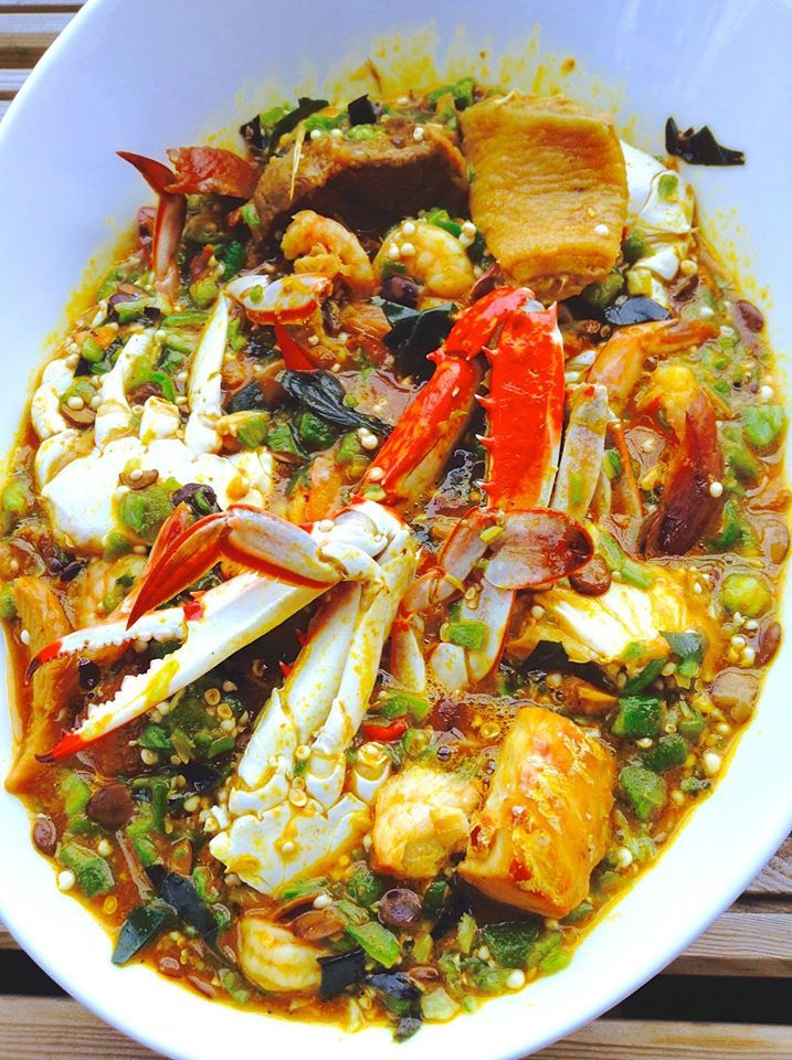 Okra Soup/Sauce Gombo - Eaten mostly in West African countries such as Togo, Benin, Nigeria, Mali...