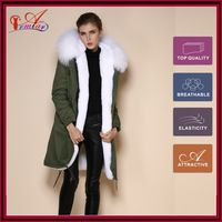 white faux fur jackets women with real reccoon dag furs collar long style coat for women mr & mrs furs unisex coat M002-1