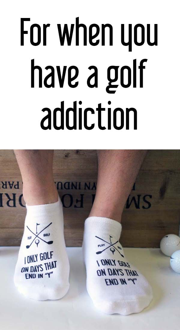 Our fun and funny golf socks are a great accessory to your golf wardrobe and make fantastic gifts too! We use eco-friendly inks on cotton-blend sport no-show socks for comfort on and off the golf course.