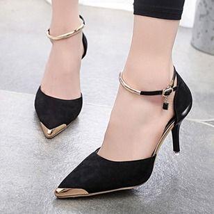 Mulheres Sapatos de salto Tamancos Salto agulha Camurça Sapatos