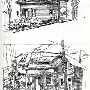Architectural Renderings In Pen And Ink Chautauqua NY Travel Sketch