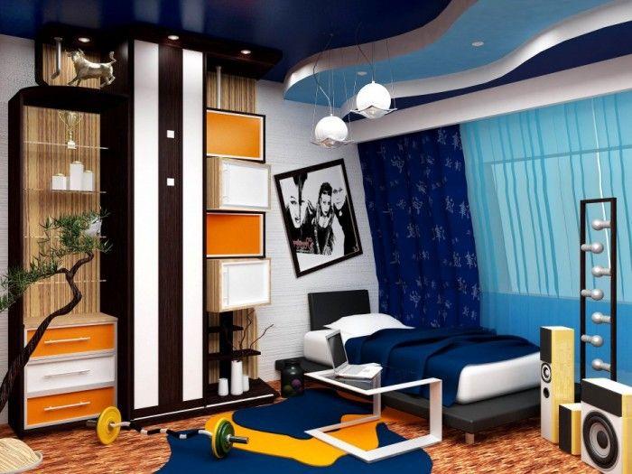подростковая комната для мальчика фото | Дизайн