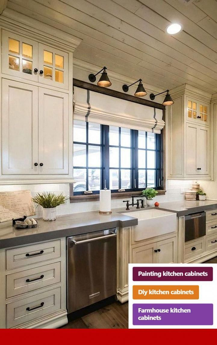 Gray Kitchen Cabinets Lowes Cabinets And Interiordesignkitchen Diy Kitchen Remodel Farmhouse Kitchen Design Farmhouse Style Kitchen