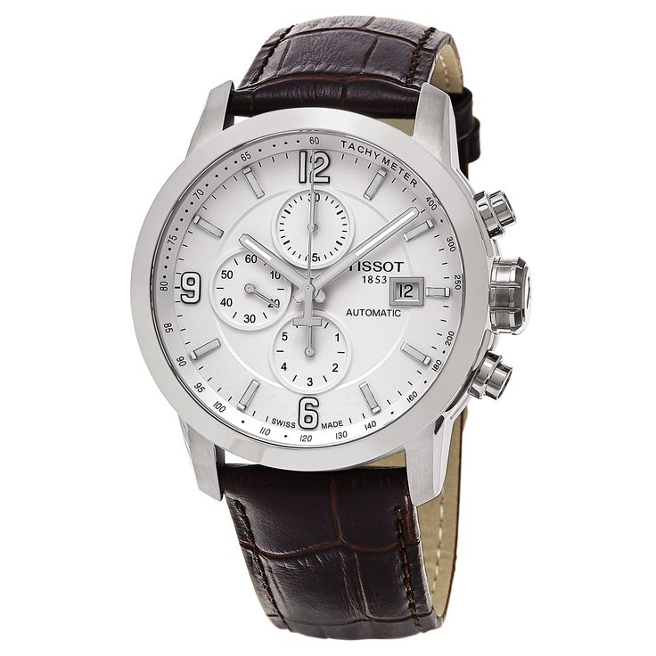 Tissot Men's T055.427.16.017.00 'prc 200' Dial Brown Strap Chronograph Swiss Automatic Watch