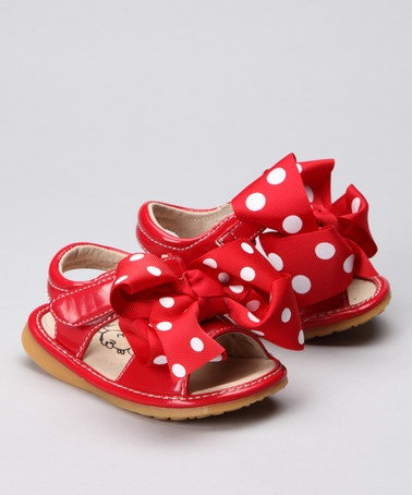 CUTE Red Polka Dot Squeaker Sandal