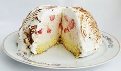 Tort de inghetata. Baked Alaska