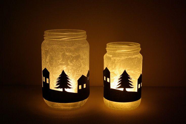 scherenschnitt windlicht basteln anleitung kostenlos fertig 1 weihnachten pinterest xmas. Black Bedroom Furniture Sets. Home Design Ideas