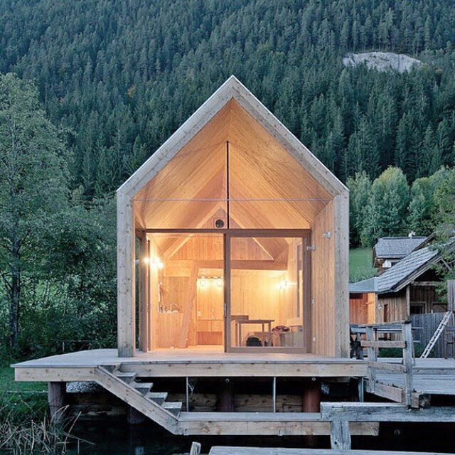 Norwegian hideaway. #Cabinporn #Woods #Sunset #nature