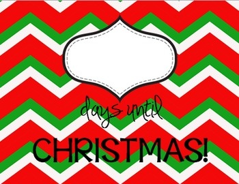 Countdown to Christmas!  Just print this {FREE} poster, put it in an 8x10 frame, and write on the glass using a dry erase marker.  Would make a great, easy gift for friends/co-workers!  :)