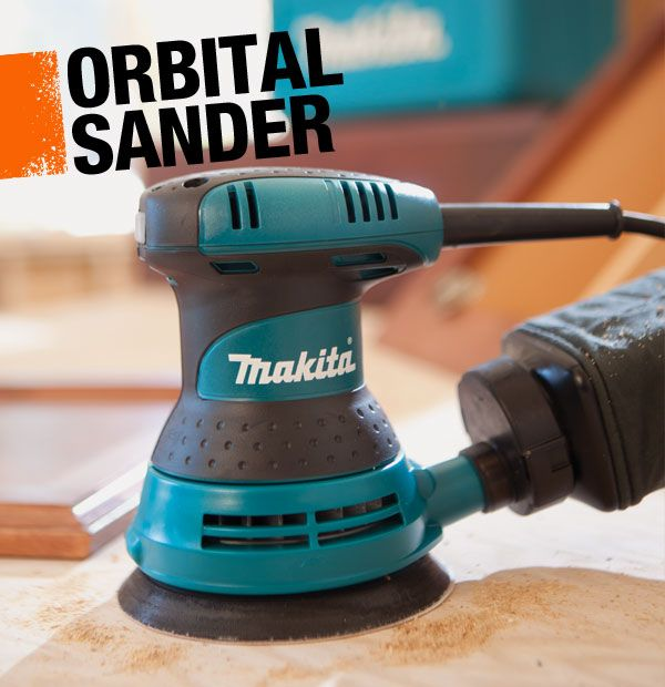 An orbital sander, or disc sander, is a handheld power sander that rotates a sanding disc in a circle, creating a finer finish than a belt sander. It's ideal for refinishing furniture or other woodworking projects.