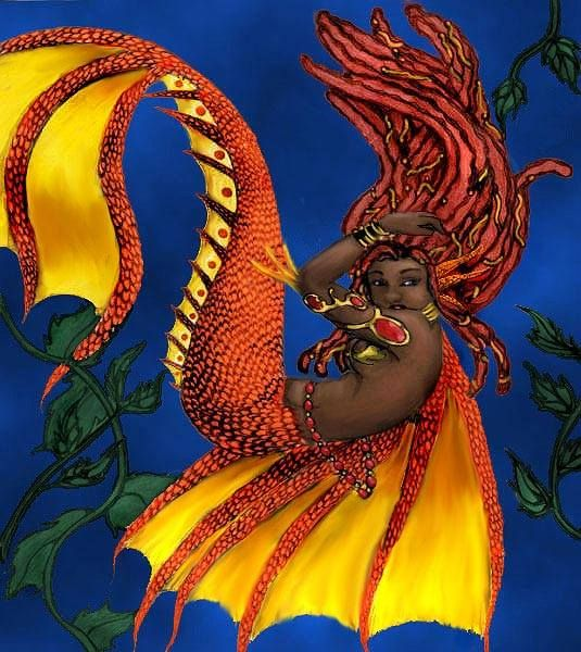 African Mermaid Mermaid Amp Dolphin