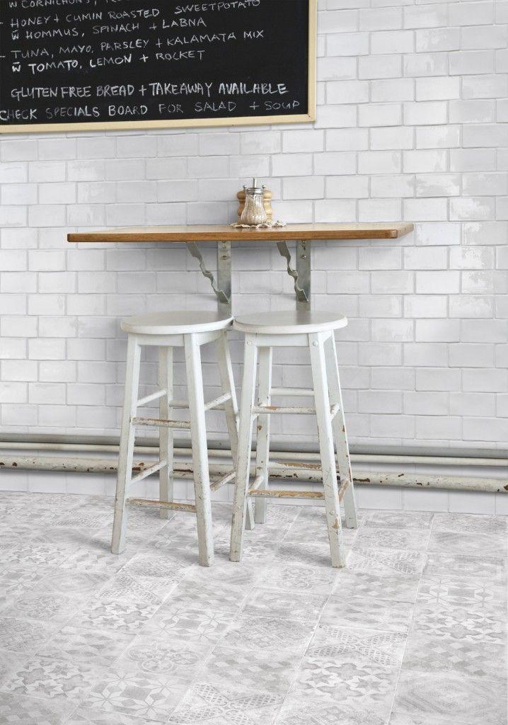 Betonbrick fliser 7,5x15 hvit blank | Norfloor