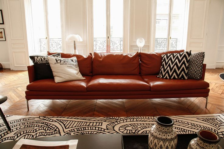 1000 ideas about red leather sofas on pinterest red for Canape leather sofa