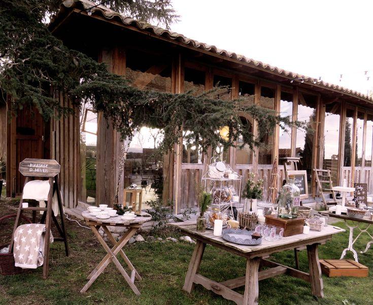 installation extérieure, location objets scénographie par mambilline déco wedding planner madameauxanges.com