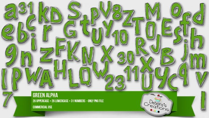 Green Alpha 2 by Debora's Creations (CU)