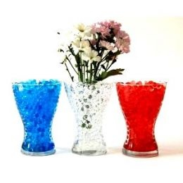 Centerpiece for tables. Blue, silver, and black orbeez ...