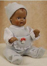 Puppe, Schildkröt-Puppen, »Klassik Strampelchen, im blauem Strampler, 16 cm«