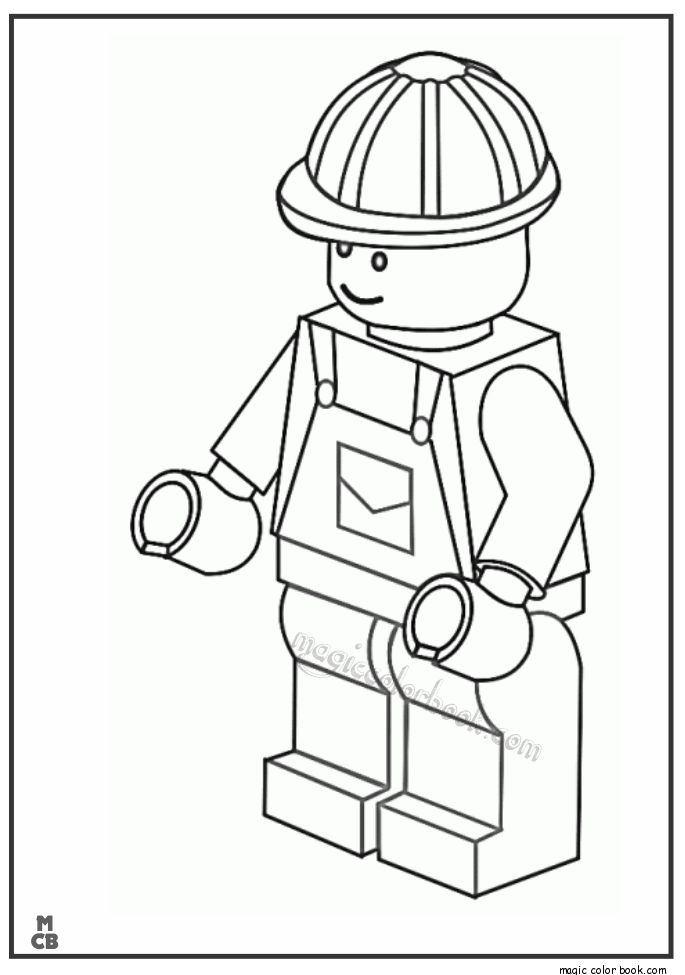 Free Lego Coloring Pages