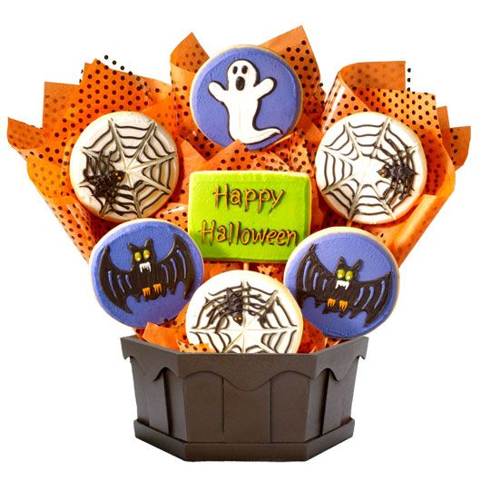 27 best halloween treats and gifts images on pinterest halloween send a handcrafted gourmet gift basket from cookies by design our cookie bouquet designs are perfect for any holiday birthday or special occasion negle Gallery