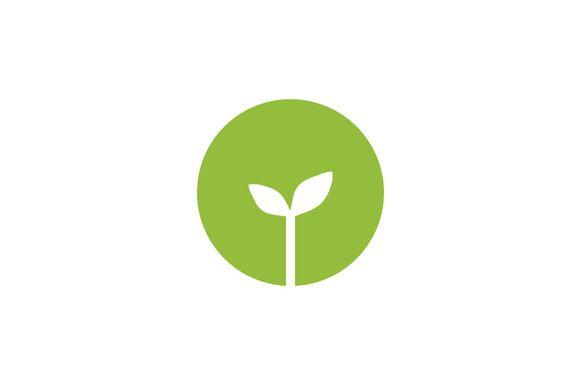 Organic Green Logo Template by Rekisaurus on @creativemarket