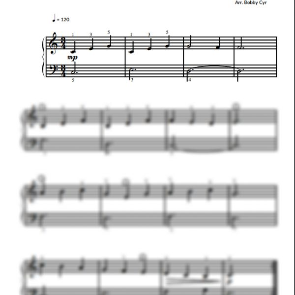 Pat a Cake - Nursery Rhymes - Easy Piano Sheet Music for Beginners / Piano Notion