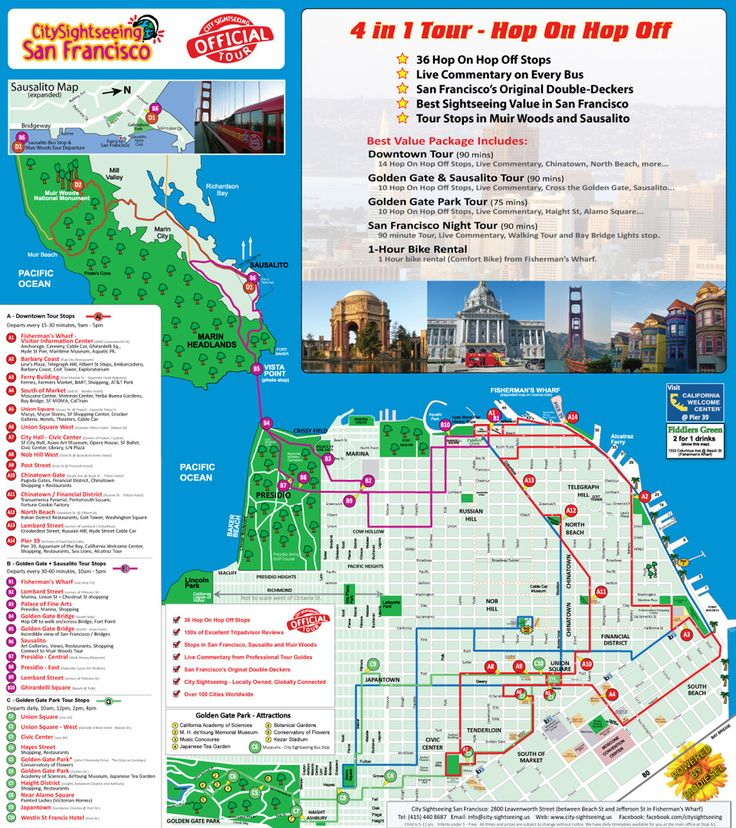 Best 25 San Francisco Map Ideas On Pinterest Art: City Sightseeing San Francisco Map At Slyspyder.com