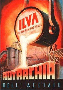 UNA CARTOLINA MOLTO ATTUALE DI UNA DELLE PIU' GROSSE ACCIAIERIE ITALIANE VOLUTE DURANTE IL PERIODO DA BENITO MUSSOLINI E FACEVA PARTE DEL PIANO PER LA RICOSTRUZIONE INDUSTRIALE ITALIANA GRUPPO I.R.I. NEL 1942