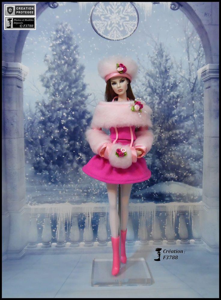 """Robe Barbie """" Lola """" Ensemble pour poupée Barbie fashionistas et autres f3788"""