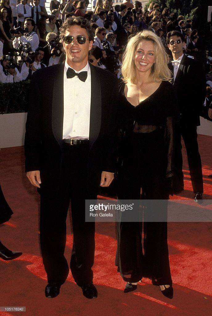 Andrew Shue and Heather Locklear during 45th Annual Primetime Emmy Awards 1993