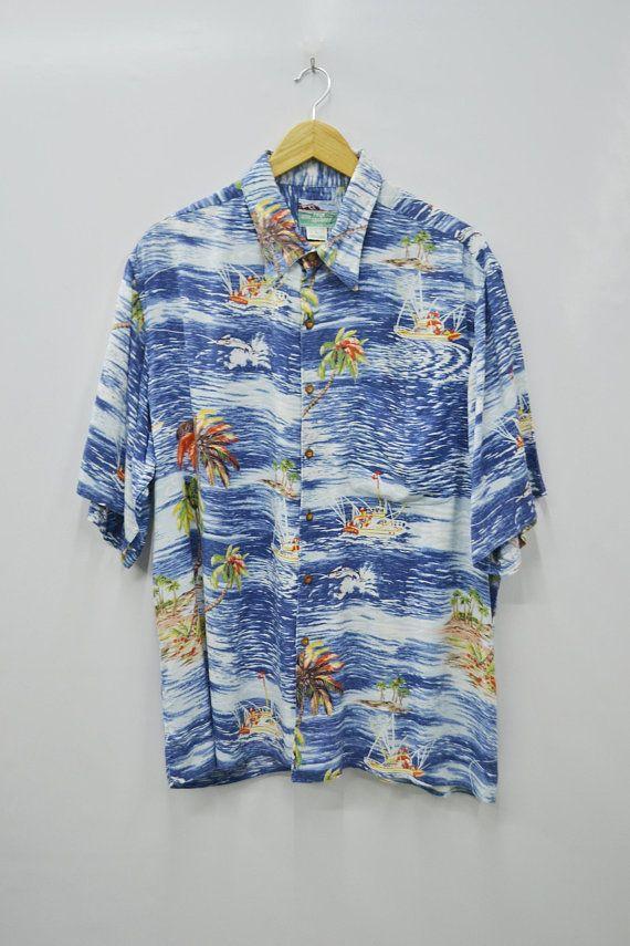 Reyn Spooner Shirt Vintage Reyn Spooner Button Shirt Vintage Reyn Spooner All Over Print Rayon Button Up Hawaii Shirt Size L