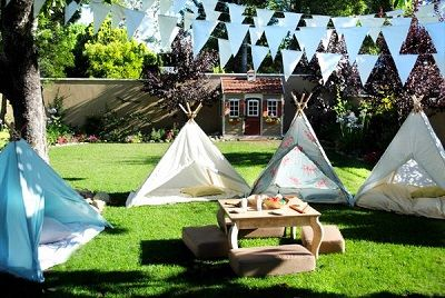 Camp out party. Pitch some tents in your backyard or living room for a camping sleepover.