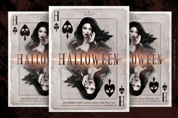 Halloween Play Card Party Flyer by Ade Concept on Creative Market