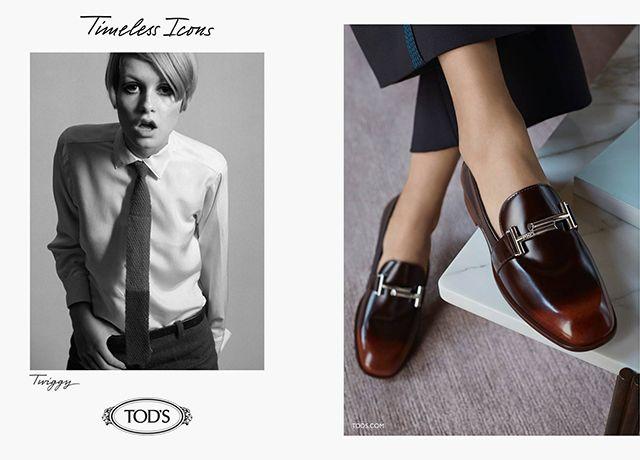 Твигги, Джейн Биркин и Джин Шримптон в новой кампании Tod's (фото 3)