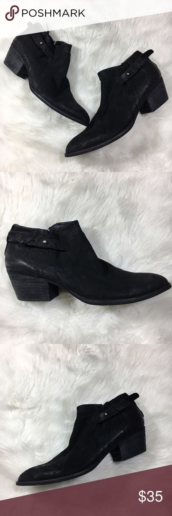 """Dolce Vita distressed suede ankle bootie Buckle Ankle boots with a buckle strap, distressed suede with minor marks on one toe of the boot. 2"""" heel Shoes Ankle Boots & Booties"""